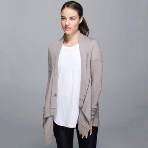 Lululemon Wrap It Up Sweater in  Heathered Storm Grey